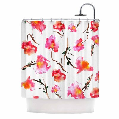 Danii Pollehn Springflower Shower Curtain