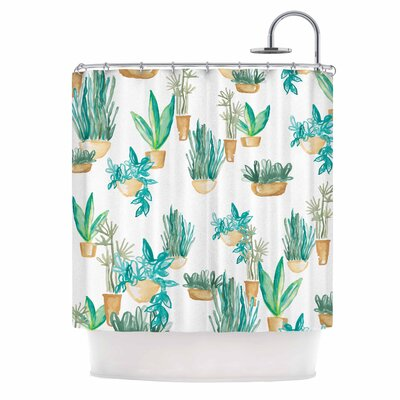 Danii Pollehn House Plants Illustration Shower Curtain