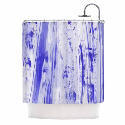 Danii Pollehn indigo Stripes Shower Curtain