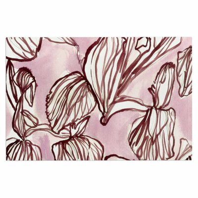 Danii Pollehn Iris Watercolor Illustration Doormat
