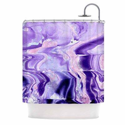 Danii Pollehn Purple Marble Structure Shower Curtain