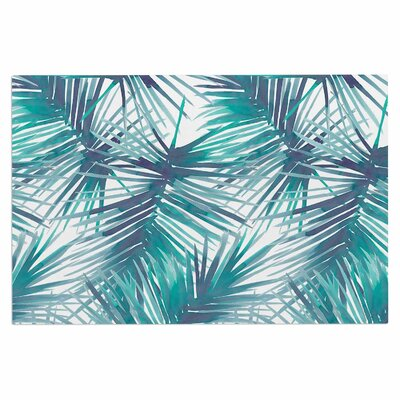 Danii Pollehn Palm Tree Branches Illustration Doormat