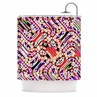 Dawid Roc Camouflage 2 Abstract Shower Curtain
