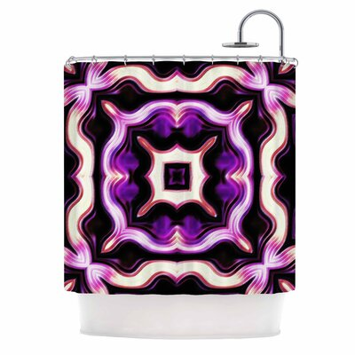 Dawid Roc Vintage Flower 2 Shower Curtain Color: Purple
