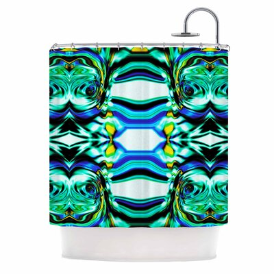 Dawid Roc inspired By Psychedelic Art 5 Abstract Shower Curtain