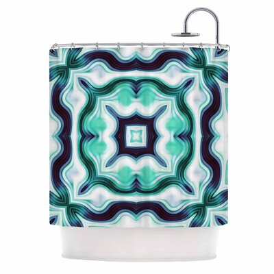 Dawid Roc Vintage Flower 3 Abstract Shower Curtain