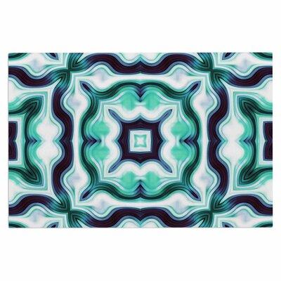 Dawid Roc Vintage Flower 3 Abstract Doormat Color: Green