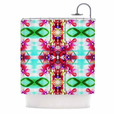 Dawid Roc Tropical Floral Orchids 2 Shower Curtain