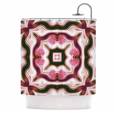 Dawid Roc Vintage Flower 2 Shower Curtain Color: Pink