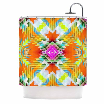 Dawid Roc Colorful Tribal Mosaic Shower Curtain