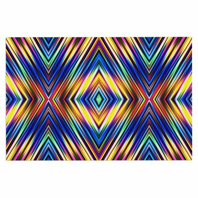 Dawid Roc Multi Colors Modern Tribal Tribal Doormat