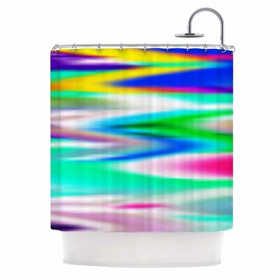 Dawid Roc Lively Atmosphere Abstract Shower Curtain
