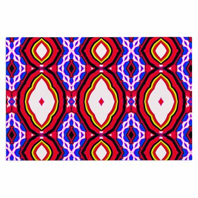 Dawid Roc Inspired by Psychedelic Art 3 Abstract Doormat Color: Red