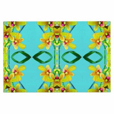 Dawid Roc Tropical Floral Orchids 3 Floral Doormat