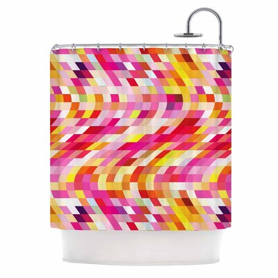 Dawid Roc Colorful Geometric Movement 2 Shower Curtain