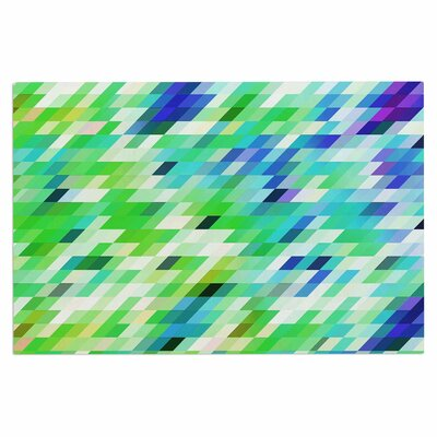 Dawid Roc Colorful Summer Geometric Abstract Doormat