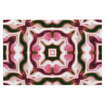 Dawid Roc Vintage Flower 3 Abstract Doormat Color: Pink