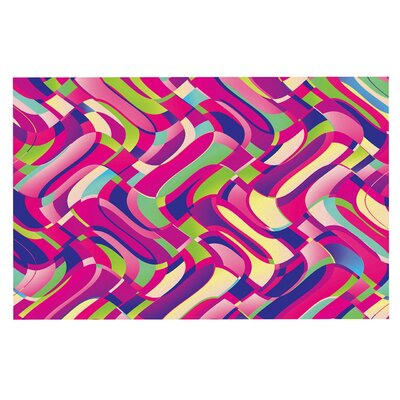 Dawid Roc Colorful Movement Abstract Doormat