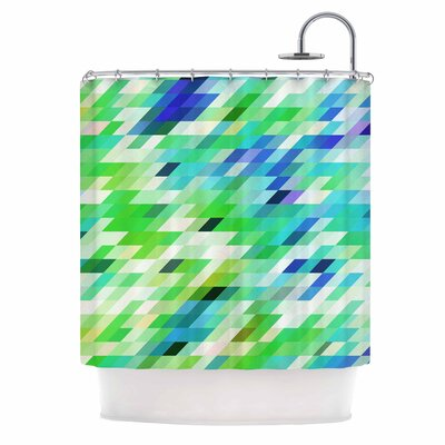 Dawid Roc Colorful Summer Geometric Abstract Shower Curtain