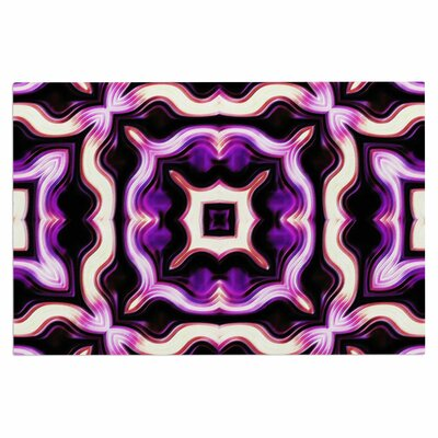 Dawid Roc Vintage Flower 3 Abstract Doormat Color: Purple