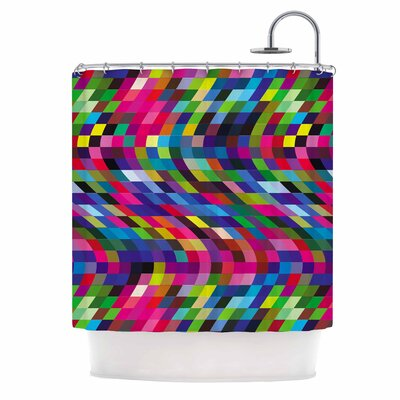 Dawid Roc Colorful Geometric Movement 1 Abstract Shower Curtain