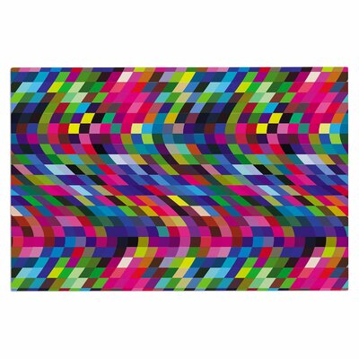 Dawid Roc Colorful Geometric Movement 1 Abstract Doormat