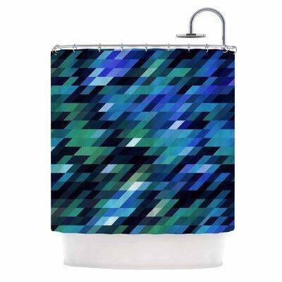 Dawid Roc Geometric City Shower Curtain