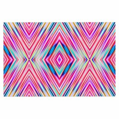 Dawid Roc Modern Tribal Ethnic Ikat Geometric Doormat
