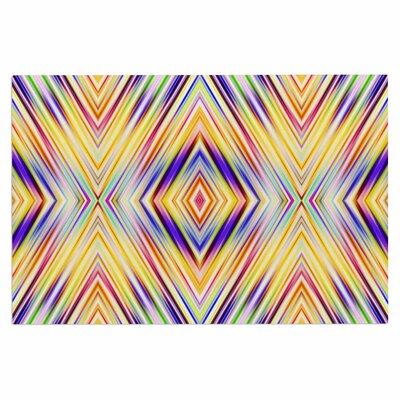 Dawid Roc Colorful Tribal Ethnic Ikat Doormat