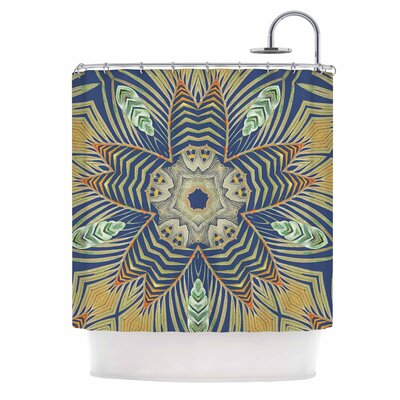 Alison Coxon Kitenge Shower Curtain Color: Blue/Orange