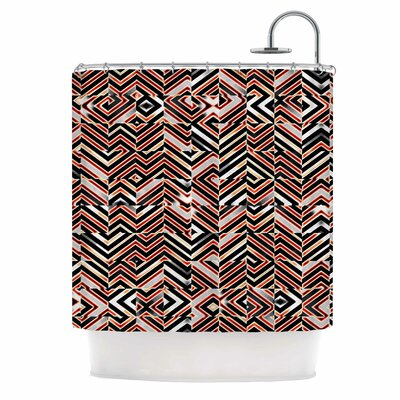 Dawis Roc Maze Geometric Abstract 1 Shower Curtain