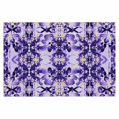 Dawid Roc Tropical Orchid Floral 3 Doormat Color: Purple/Lavender