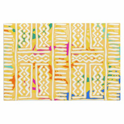 Dan Sekanwagi Lines Zigzags Colorful Tribal Doormat