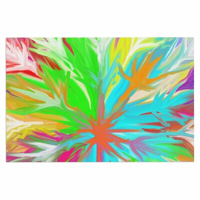 Dan Sekanwagi Tropical Paradise Rainbow Abstract Doormat