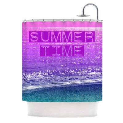 Alison Coxon Summer Time Typography Shower Curtain