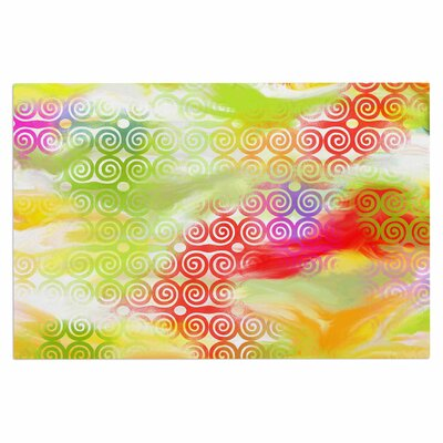 Dan Sekanwagi Locked Rams Horns Rainbow Abstract Doormat