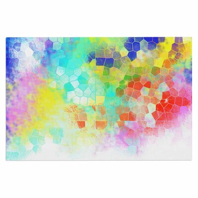 Dan Sekanwagi Color Structure Colorful Abstract Doormat