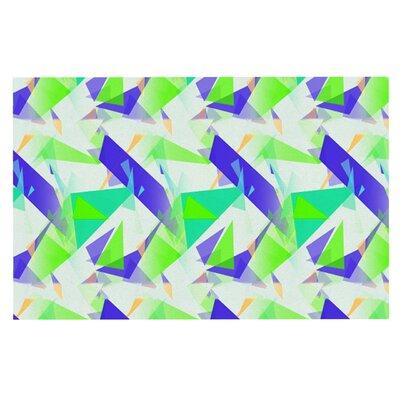 Alison Coxon Confetti Triangles Doormat Color: Blue/Green