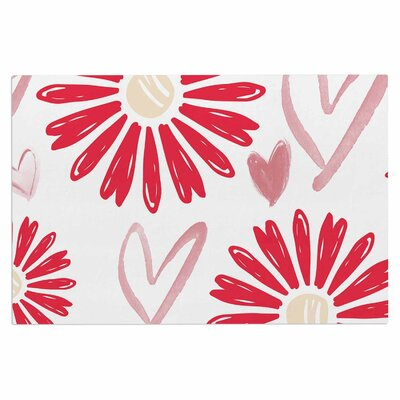 Alison Coxon Hearts and Flowers Love Doormat