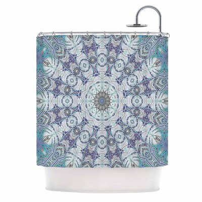 Alison Coxon Jungle Kaleidoscope Cool Shower Curtain Color: Blue/Purple