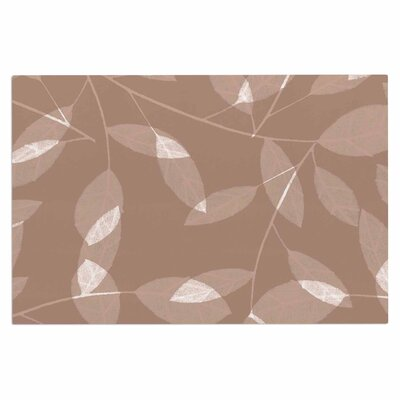 Alison Coxon Leaf Tawny Doormat Color: Brown/Beige