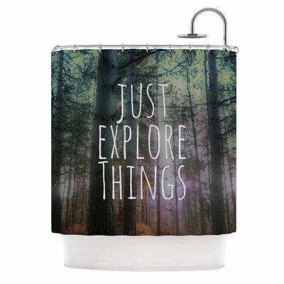 Alison Coxon Just Explore Things Photography Shower Curtain