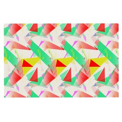 Alison Coxon Confetti Triangles Doormat Color: Green/Red
