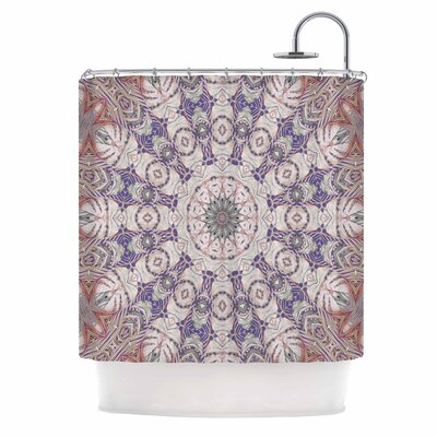 Alison Coxon Jungle Kaleidoscope Cool Shower Curtain Color: Purple/White