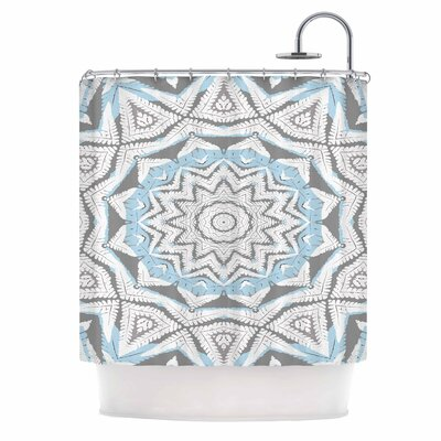 Alison Coxon Plant House Mandala Digital Shower Curtain