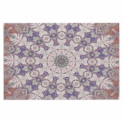 Alison Coxon Jungle Kaleidoscope Cool Doormat Color: Purple/White