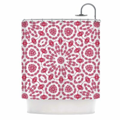 Alison Coxon Ruby Mandala Digital Shower Curtain