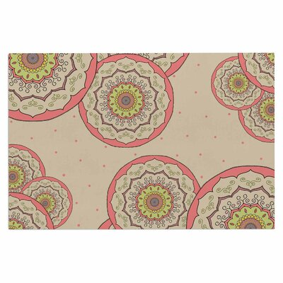 Cristina Bianco Mandala Illustration Doormat Color: Pink/Green