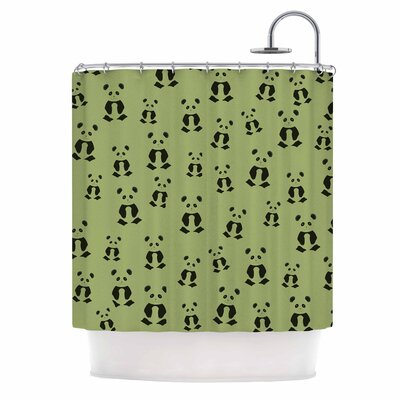 Cristina Bianco Panda Illustration Shower Curtain