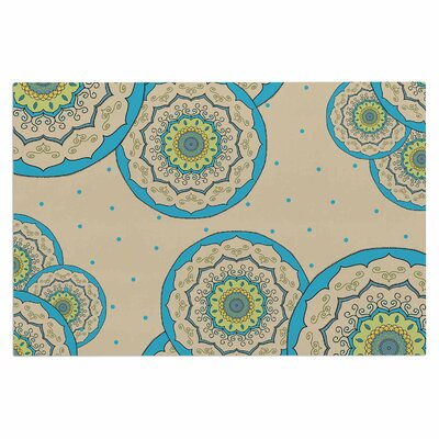 Cristina Bianco Mandala Illustration Doormat Color: Blue/Green